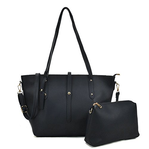 3d2f9442e4a9e SALLY YOUNG Fashion women Pu Leather Top Handle Bags 2 Pieces Satchel for  Ladies Large Capacity