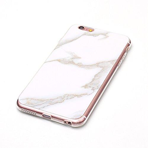 Cover iPhone 6/6s Plus, Sportfun Modello in marmo morbido protettiva TPU Custodia Case in silicone per iPhone 6 Plus 6s Plus (01) 08