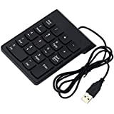 IJARP Wired Keyboard USB Numeric Keypad 18Keys Digital Keyboard For Laptop Desktop