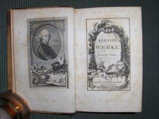 """Die Sämmtliche Werke (2 Teile in 1 Band + """"Varianten"""" nach der Berlinerausgabe von 1778)."""