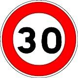 Uttscheid Panneau de limitation de Vitesse à 30 km/h - Autocollant Vinyl Waterproof - Diamètre de 200 mm