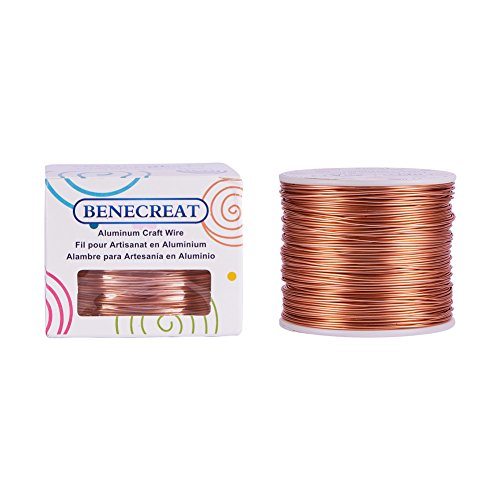 BENECREAT 18 Gauge1mm Aluminum Wire 492 FT150m Anodized Jewelry Craft Making