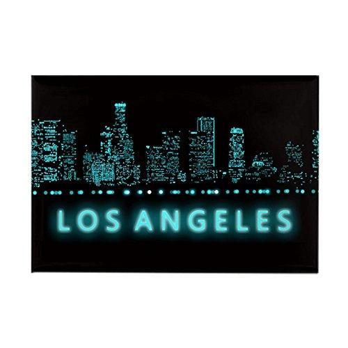 CafePress–Digital Stadtbild: Los Angeles, C–Rechteck Magnet, 5,1x 7,6cm Kühlschrank Magnet