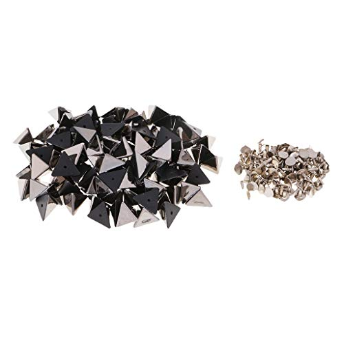 Schwarz Kleidungsstück (MagiDeal 100er Set Nieten Ziernieten Schmucknieten Kunststoffnieten Druckknöpfe für Kleidungsstücke Handtasche - Schwarz)