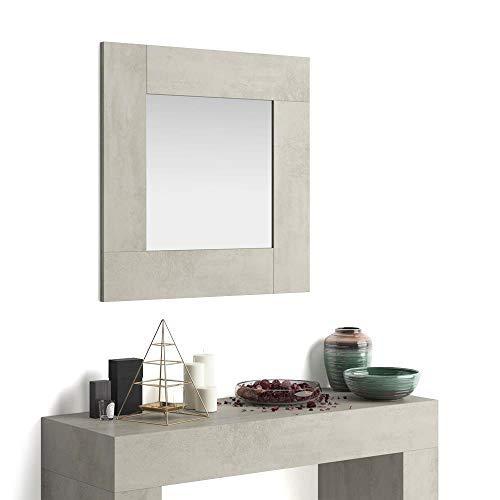 Mobili Fiver, Miroir Mural carré Evolution, Ciment, 73 x 2 x 73 cm, Mélaminé/Verre, Made in Italy