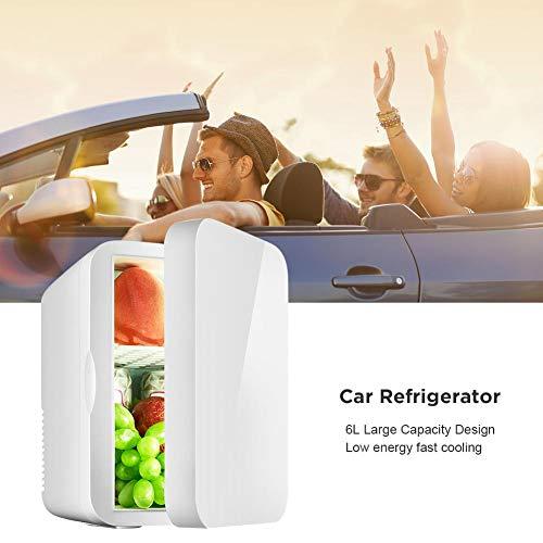 41iQZM80qlL - LiuXi Mini frigorífico, pequeño 12V Refrigerador de automóvil 220V De una sola puerta Car Home Doble uso Termoeléctrico Mini refrigerador Refrigerador Calentador para modelos de autos Car Home Modelos