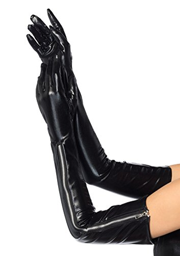 Leg Avenue 2667 - Wet Look Opera Handschuhe (Wet-look Spandex-stoff)