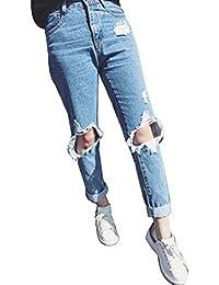 Guiran Baggy Jeans Uomo, Vita Alta Elasticizzati Pantaloni