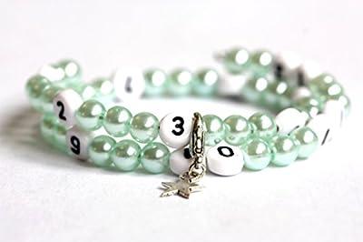 Bracelet d'allaitement de couleur vert claire en acrylique
