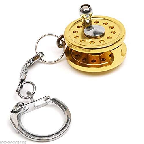 Skyeye Mini Angelrolle Modell Schlüsselanhänger Schlüsselbund Keychain Rucksack Anhänger Mädchen Handy Auto Ornamente Zubehör Taschenanhänger
