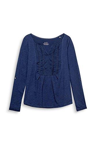 edc by ESPRIT Damen Langarmshirt Blau (Navy 400)