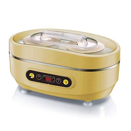 JYDQT Automatischer digitaler Joghurtbereiter mit Zeit- und Temperaturanzeige for Gläser und Deckel und Edelstahldesign for den Heimgebrauch