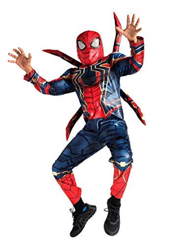 DS Disney Store Costume Iron Spider Spider-Man Uomo Ragno Spiderman Avengers: Infinity War Bimbo Bambino Maschio Maschietto Carnevale 7 8 Anni