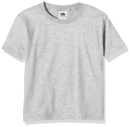 Fruit of the Loom Jungen T-Shirt Ss124b, Grau, 10-11 Jahre (T-shirt Cool Emo)