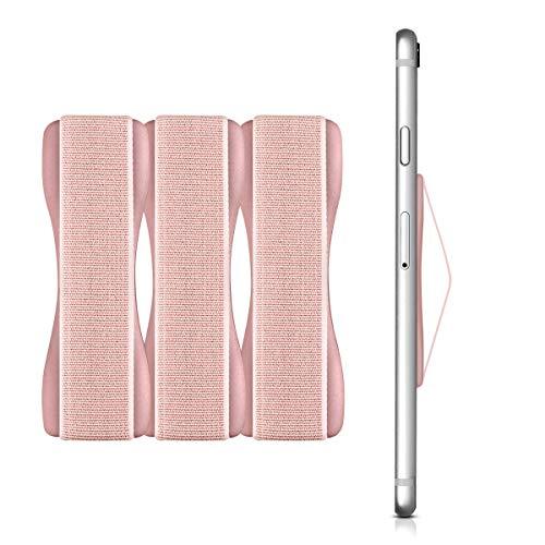 kwmobile Smartphone Fingerhalter 3er Set - Handy Halter Griff Halterung Einhandbedienung - 3X Handyhalter in Roségold