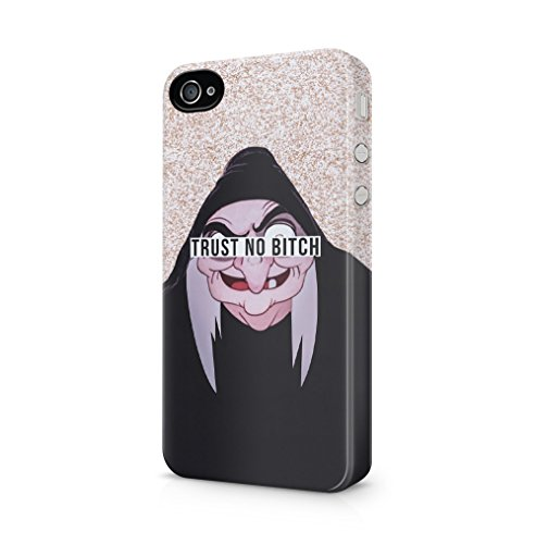 4 Boho Iphone Fall (Cartoon Witch Trust No Bitch Apple iPhone 4 / iPhone 4S SnapOn Hard Plastic Phone Protective Fall Handyhülle Case Cover)
