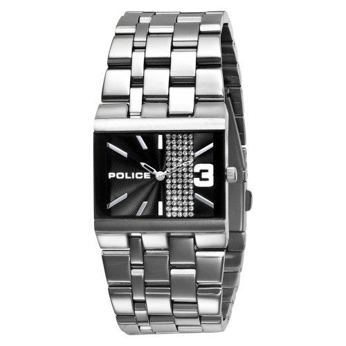Police - GLAMOUR SQUARE PL10501BS/02M - Montre Femme - Quartz - Analogique - Bracelet Acier Argent