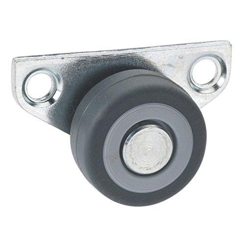 Design61 4x Kastenbockrolle Bettkastenrolle M/öbelrolle M/öbelrollen 30x14 mm mit weicher Lauffl/äche
