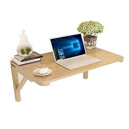 DNSJB An der Wand befestigter Tisch-Laptop-Stand-Schreibtisch-Faltbarer Computer-Schreibtisch gegen den Wand-Speisetisch, festes Holz, 9 Größe (größe : 80x40CM) -