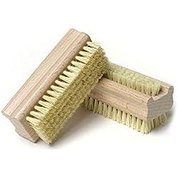 Pixnor Cepillo de uñas de madera con cerda Natural cara