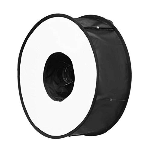 xiliary Runder Flash-Softbox-Diffusor, 18 Zoll / 45 cm Tragbarer Ring-Flash-Diffusor-Softbox für Blitzlicht-Makro-Porträtaufnahmen...