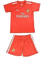 Kit Camiseta y Pantalón Junior Real Madrid - Réplica Autorizada - Courtois 25 ...