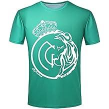 Personalizado REAL MADRID CF Cristiano Ronaldo CR7 verde camiseta para  hombre 94210a8d07426