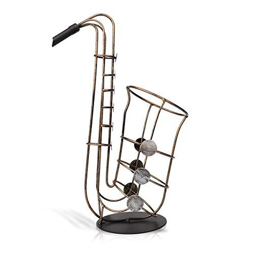 Homake Weinflaschenhalter Home Furnishings Saxophon Modellierung Weinzahnstangen Modernes Metall...