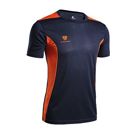 Celucke Coole Laufshirts Sport Funktionsshirt Herren mit Logo, Rundhals Kurzarm Fitness T-Shirt Performance Männer Kompressionsshirt Trainingsshirt Sportshirt ()