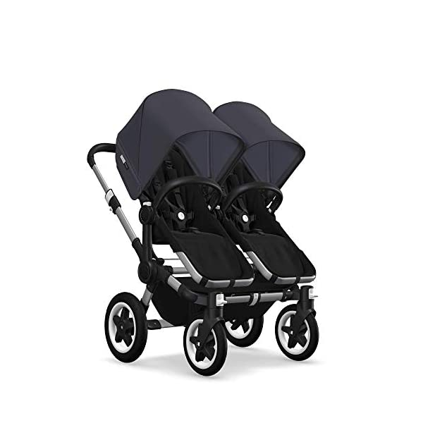 Bugaboo Donkey 2 Twin, 2 in 1 Double Pram and Double Pushchair for Twins, Steel Blue Bugaboo The name donkey says it all: it's the bugaboo pushchair with the most storage space. Compatible with the bugaboo donkey & donkey2 2