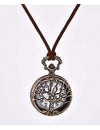 HSDDA Montre de Poche Vintage à Quartz avec Pendentif en Forme d'arbre à souhaits Bronze
