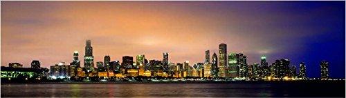 KÜCHENRÜCKWAND Hart PVC überdeckt Fugen 300x60cm Folie selbstklebend City Skyline KFS54