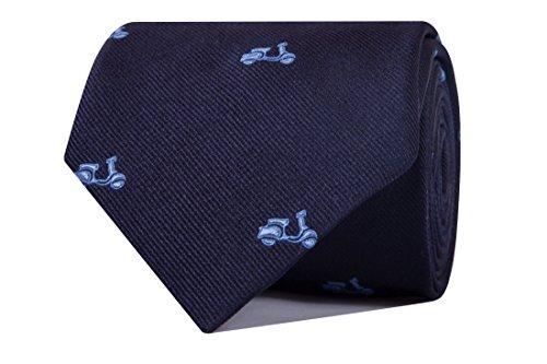 SoloGemelos - Corbata Vespas - Azul Celeste - Hombres - Talla Unica