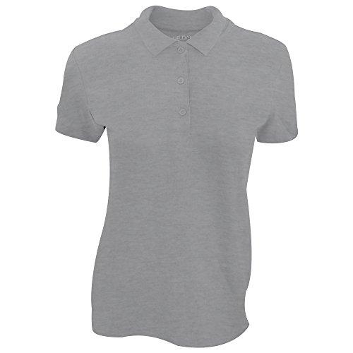 Gildan Damen Premium Polo-Shirt, Kurzarm Heidekraut dunkel