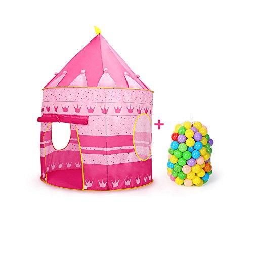 Siyushop Princesse Palace Château Enfants Enfants Jouer Tente Maison Intérieur ou Extérieur Jardin Jouets Wendy Maison Play Maison Plage Tente Soleil Garçon Fille (Color : Yellow)