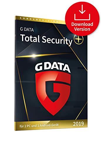 G DATA Total Security 2019 Plus+ | Download | Für 2 Windows-PC und 1 Android-Gerät | 1 Jahr | Erstklassiger Rundumschutz durch Firewall & Antivirus | Trust in German Sicherheit (365 Norton Software)