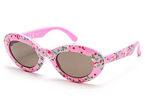 Kiddus Sonnenbrille Little Kids MÄDCHEN   8 monate bis 2 Jahre   sehr komfortabel und sicher   100% UV-Schutz und flexible Gummibeine.   ideales Geschenk für Kinder KI30512