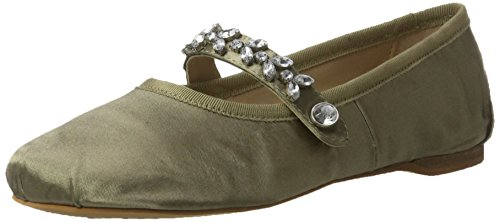 Buffalo London 216-6124 Satin, Ballerine Donna Verde (Kaki)