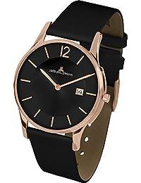 Jacques Lemans Unisex-Armbanduhr London Analog Quarz Leder 1-1850G