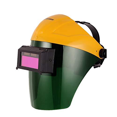 ABS Casco de Soldadura Oscurecimiento automático, Máscara de Soldadura de Carga Solar, Soldadura Escudos y Casco de Seguridad de protección, Gafas de soldar argón Soldadura de Arco máscara