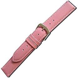 Herzog Uhrenband Beach Kalbleder Pink Bandanstoss 18 mm Medium