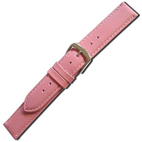 Herzog HER-40-20-20-M - Correa de cuero para reloj de hombres, color rosa (20)