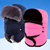 INFIKNIGHT INF Winter Ear Neck Protection Bomber Hat Warm Hunting Hat Men Women Outdoor Mountaineering Skiing Hiking Caps Lei Feng Caps