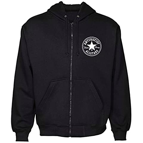 Antifa Allstars Kapuzenjacke, Farbe: schwarz, Größe: XXL