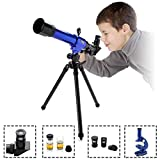Ebuy India Powerful Astronomical Telescope with Tripod Stargazing Educational Children Toy Microscope