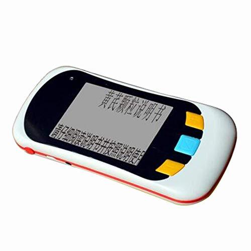 ACZZ Handheld-Video-Digitallupe Stufenloser Zoom Multi-Farbmodi 3,5-Zoll-Lesehilfe für die Unterstützung von Sehbehinderungen HDMI-AV-Ausgang zum Fernseher,A