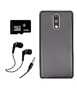 Moto G Plus, 4th Gen / Moto G, 4th Gen MOCELLBlack Soft Matte Back Cover case + 16 GB CLASS 10 MICRO SD MEMMORY CARD + EARPHONE COMBO
