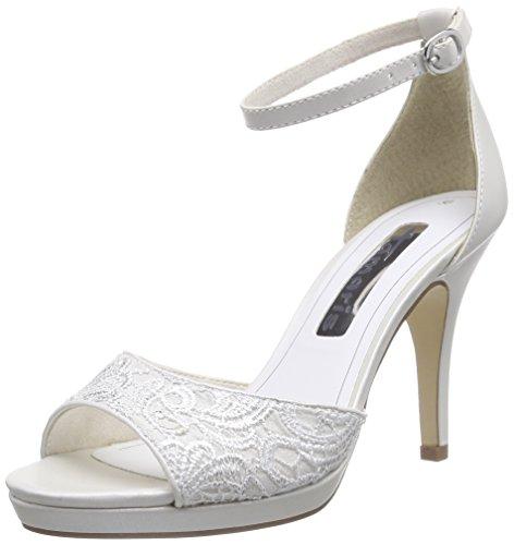 Tamaris 28301, Sandales Bride cheville femme Blanc (white 100)