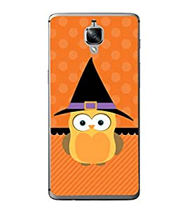 Cute Owl 2D Hard Polycarbonate Designer Back Case Cover for OnePlus 3 :: OnePlus Three