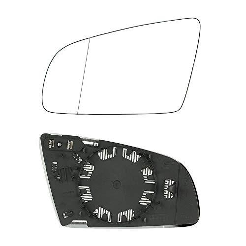 Wencaimd Weitwinkel-Rückspiegelglas, beheiztes HD-Seitenspiegelglas für Links und rechts, beheiztes Spiegelglas für die Linke Antriebsseite für Audi A3 A4 A6 zum Autos Autos Kraftfahrzeuge